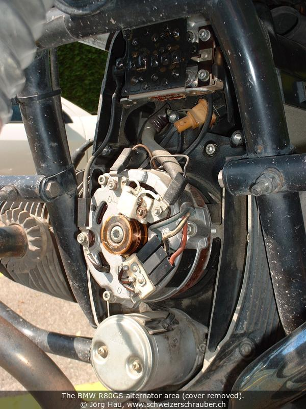 joergs motorcycle pages bmw electrical right alternator stator alternator rotor rotor holding screw and the special tool to draw the rotor